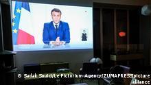 Frankreich | TV Ansprache | Präsident Emmanuel Macron