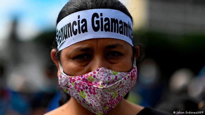 Protestas en Guatemala contra el gobierno de Alejandro Giammattei. (24.11.2020).