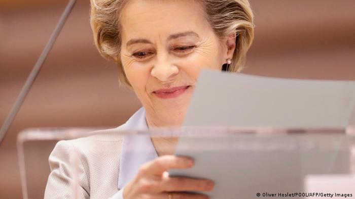 Europa Ursula von der Leyen im Europäischen Parlament