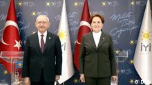 Türkei Kemal Kilicdaroglu Vorsitzender der CHP und Meral Aksener Vorsitzende der IYI Partei