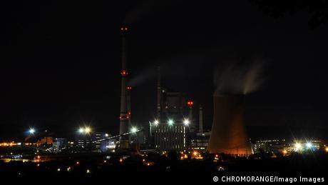 Tschechien Das Kohlekraftwerk Melnik