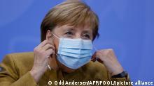 Le nombre d'infections quotidiennes est encore à un niveau beaucoup trop élevé, a expliqué Angela Merkel