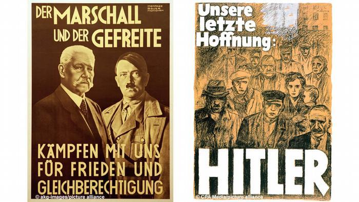 Hitler und Hindenburg Plakat / Hitler Plakat