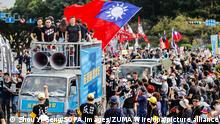 Taiwan CTi News Protest in Taipei