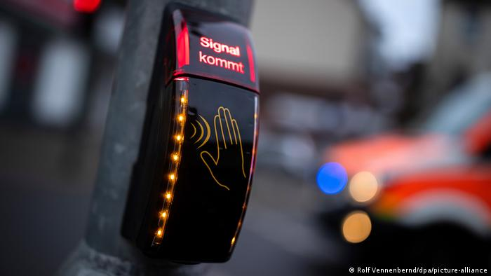 Бесконтактный пешеходный переход в Дюссельдорфе