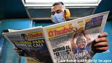Kolumbien Zeitungsartikel zum Tod von Maradona