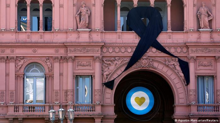 Velorio de Maradona en la Casa Rosada de Buenos Aires, sedel del Gobierno argentino.