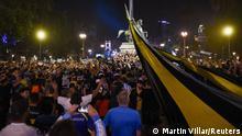 Argentinien Aufbahrung des Sarges von Diego Maradona im Casa Rosada in Buenos Aires