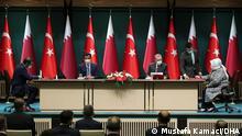 Türkei Ankara |Scheich Tamim bin Hamad Al Thani & Recep Tayyip Erdogan