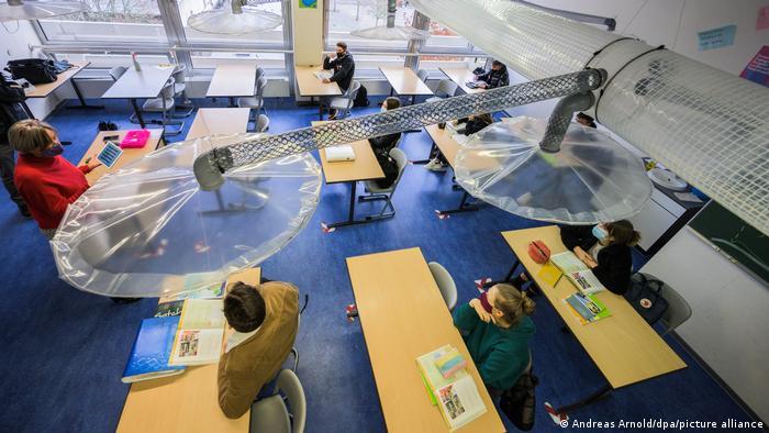 BG Corona-November in Deutschland | Abluftanlagen für Schulen