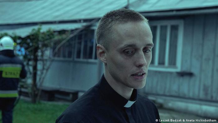 Lead actor Bartosz Bielenia as Daniel in Corpus Christi