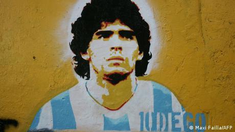 Argentinien - Grafitty zeigt Diego Maradona