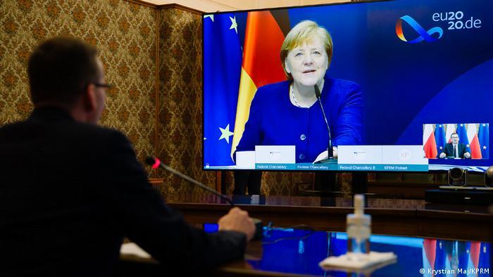 Premier Polski Mateusz Morawiecki i kanclerz Angela Merkel
