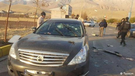 The car in which Mohsen Fakhrizadeh was riding when he was killed
