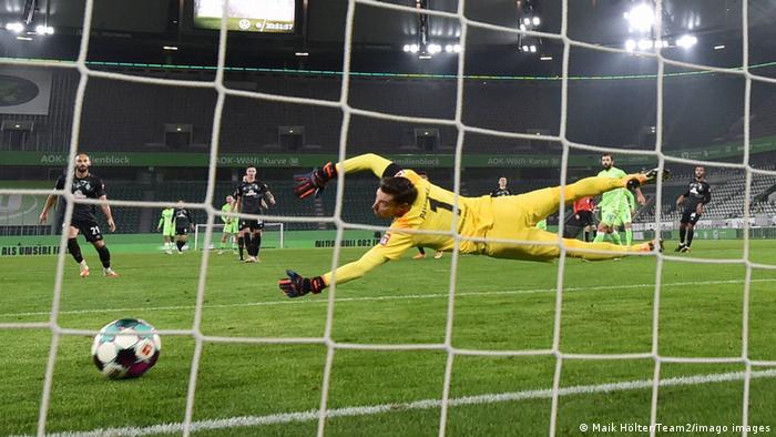 Fußball: Bundesliga I VfL Wolfsburg - Werder Bremen   Tor: 1:1