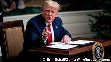 USA | Washington | Donald Trump Thanksgiving Videokonferenz