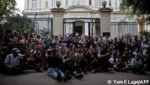 معترضان مقابل ساختمان وزارت فرهنگ کوبا، ۲۷ نوامبر ۲۰۲۰