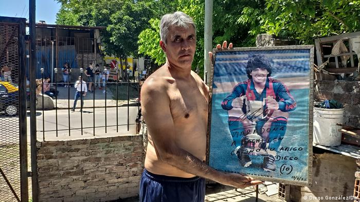 Argentinien Buenos Aires Fiorito Maradona Trauer Nachbarn