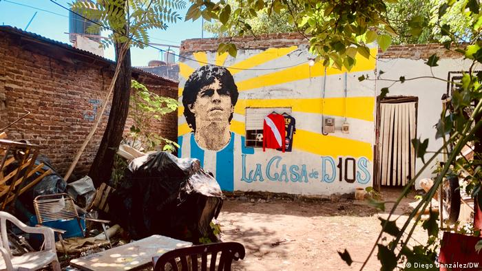 Argentinien Buenos Aires Fiorito Maradona Trauer Maradona`s Hau