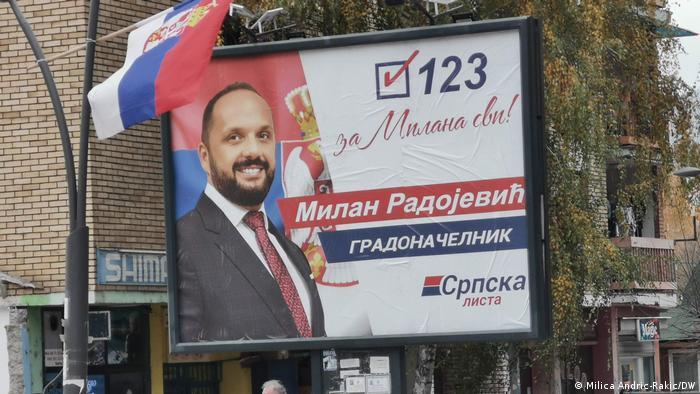 Kosovo | Bürgermeisterwaheln in Mitrovica | Wahlplakat Milan Radojevic