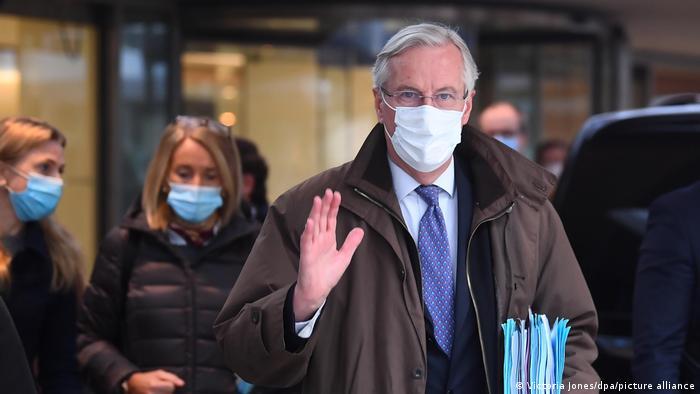 Michel Barnier in London on Saturday