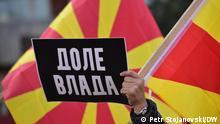 Anti- Regierungs- Proteste in Skopje, Nord Mazedonien, Skopje 28.11.2020, Foto: Petr Stojanovski