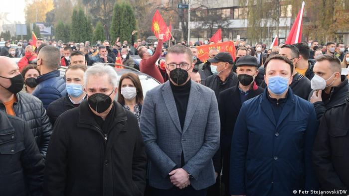 Nord-Mazedonien Skopje   Proteste gegen Regierung