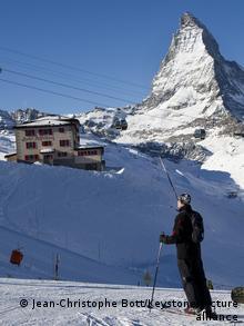 Schweiz Zermatt Riffelberg Matterhorn Ski-Gebiet
