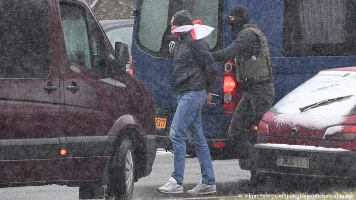 Затримання одного з учасників акції протесту 29 листопада
