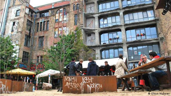 Courtyard behind Tacheles in Berlin