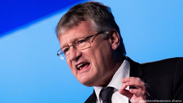 Jörg Meuthen speaking to party delegates in Kalkar in November 2020