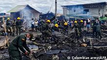 Kolumbien Riosucio | Großfeuer brennt Wohnhäuser nieder