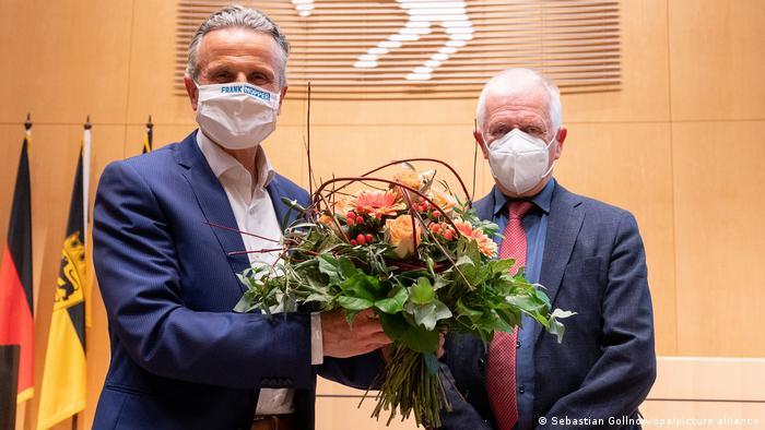 Deutschland Neuwahl des Stuttgarter Oberbürgermeisters Frank Nopper und Fritz Kuhn