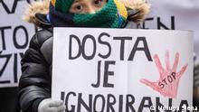 Kroatien Proteste für mehr Gehalt für Pflege von behinderten Kindern