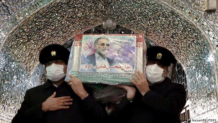 Iran Sargträger Sarg Nuklearwissenschaftler Mohsen Fakhrizadeh
