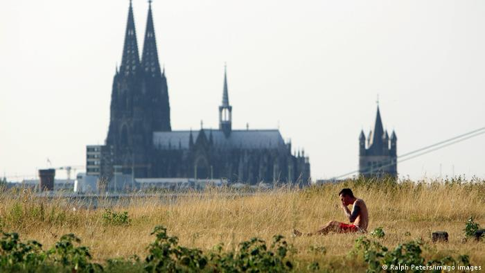 Wort des Jahres: Heißzeit; das Bild zeigt die Sommerhitze 2018 in Köln