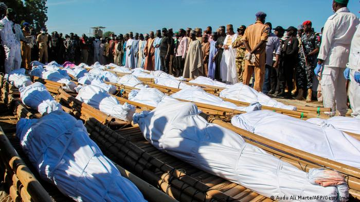 Dead bodies lie as they wait to be buried in northeastern Nigeria