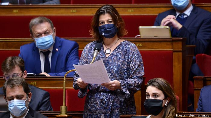 Cécile Rilhac speaks in the National Assembly