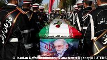 Iran Teheran | Beisetzung des getöteten iranischen Atomforschers Mohsen Fachrisadeh