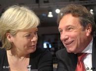 Klaus Ernst y Gesine Loetzsch