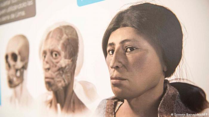 La 'Dama del Sauce' tiene nariz aguileña, cara alargada y labios gruesos, según la imagen digital que hicieron los arqueólogos.
