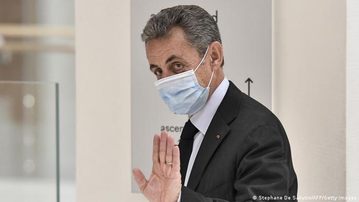 Экс-президент Франции Николя Саркози в суде, 30 ноября 2020 года