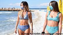 Italien Portonovo | Coronavirus | Wiedereröffnung Strand