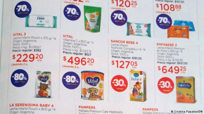 Catálogo de compras de Farmacity, de Argentina. Las rebajas corresponden a ofertas por diferentes motivos, como cambio de stock.