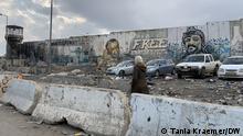 Westjordanland Mauer am Qalandiya Checkpoint zwischen Ramallah und Ostjerusalem