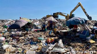 Пищевые отходы на свалке в Таиланде