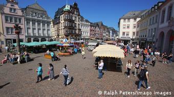 Deutschland Marktplatz in der Altstadt von Trier