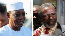 Bildkombo Tschad Idriss Deby Itno und Ngarlejy Yoron
