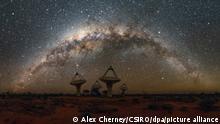 Australien ASKAP-Radioteleskop-Array im Murchison Radio-Astronomie-Observatorium