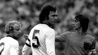 Berti Vogts with Franz Beckenbauer in 1974